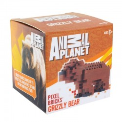 Animal Planet Pixel-Stein-Set Grizzlybär