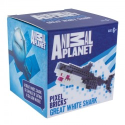 Animal Planet Pixel-Stein-Set Weisser Hai