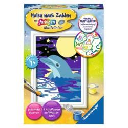 Malen nach Zahlen Malset Kleiner Delfin