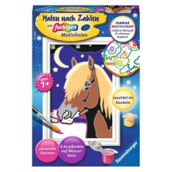 Malen nach Zahlen Malset Treues Pferd