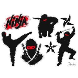 Wasserfeste Sticker Ninja von Jabalou