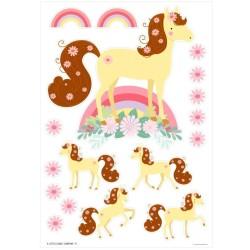 Wandsticker Pferde von A Little Lovely Company