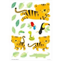 Wandsticker Dschungel Tiger von A Little Lovely Company