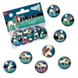 Mini-Button Set Einhorn TapirElla mit 8 Buttons