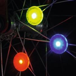 Kleine LED Speichenlichter für das Velo 3er Set