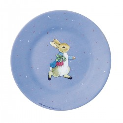 Melamin Teller Peter Rabbit - Peter Hase in blau