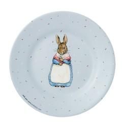 Melamin Teller Peter Rabbit - Peter Hase in grau