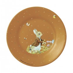 Melamin Teller Peter Rabbit - Peter Hase in karamell
