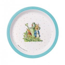 Melamin Teller Peter Rabbit - Peter Hase blau