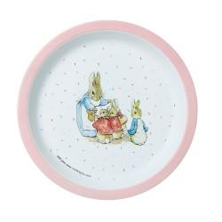 Melamin Teller Peter Rabbit - Peter Hase rosa