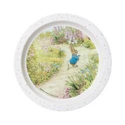 Melamin Teller Peter Rabbit - Peter Hase im Garten