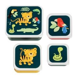 Znüni- und Lunchbox Set Dschungel Tiger von A Little Lovely Company