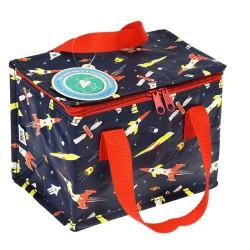 Isolierte Lunch Bag Tasche Space Age Weltall von Rex London