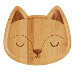 Bambus Teller Fuchs für Kinder von Sass & Belle