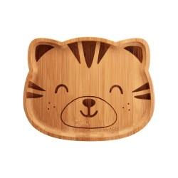 Bambus Teller Tiger für Kinder von Sass & Belle