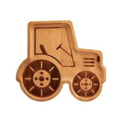 Bambus Teller Traktor für Kinder von Sass & Belle