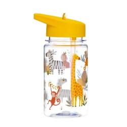 Trinkflasche Safari Savanne mit Strohhalm von Sass & Belle