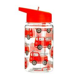 Trinkflasche Feuerwehr mit Strohhalm von Sass & Belle