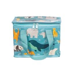 Isolierte Lunch Bag Tasche Wilde Tiere von Sass & Belle