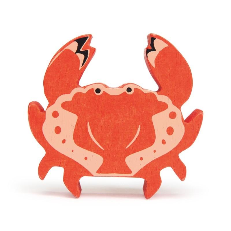 Holztier Krabbe von Tender Leaf Toys