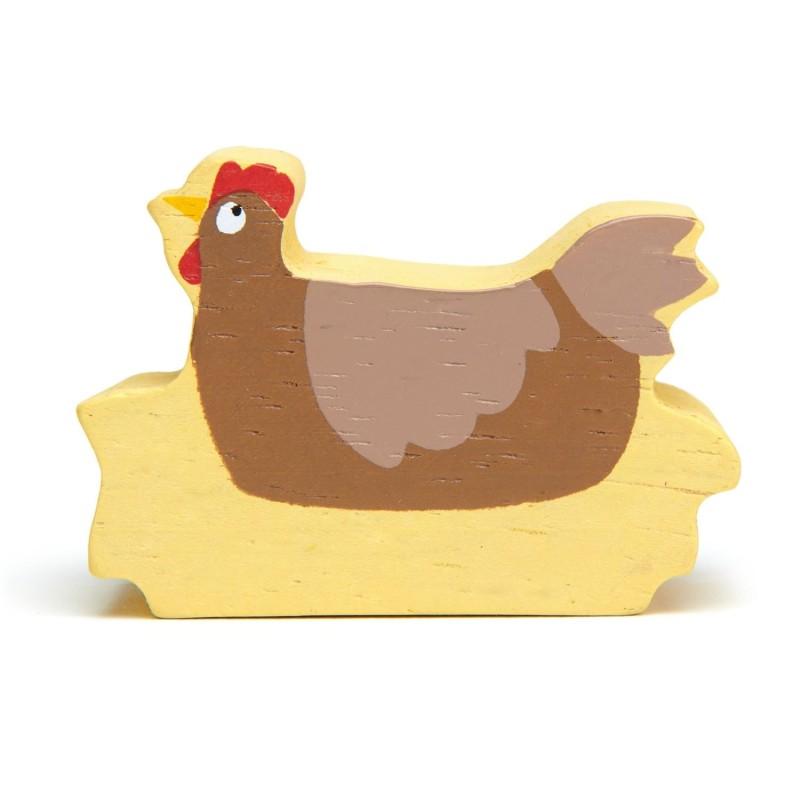 Holztier Huhn von Tender Leaf Toys