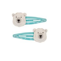 Haarspangen mit Eisbär 2er Set