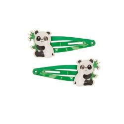 Haarspangen mit Panda 2er Set