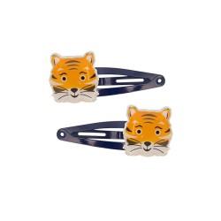 Haarspangen mit Tiger 2er Set