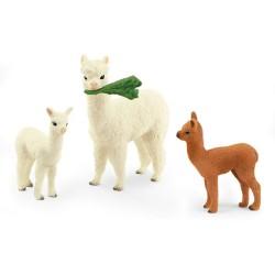 Schleich Tier Alpakafamilie