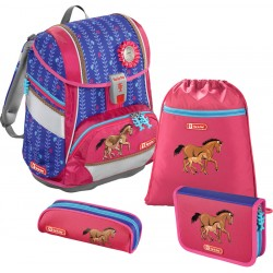 Schulthek Step by Step Lucky Horses 2in1 bunt
