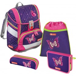 Schulthek Step by Step Shiny Butterfly 2in1 bunt