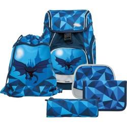 Schulrucksack Funki Flexy-Bag Dragon World blau