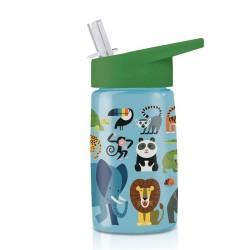Trinkflasche Eco Dschungeltiere aus Tritan