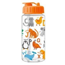 Trinkflasche Tier ABC orange