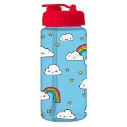 Trinkflasche Wolken & Regenbogen blau