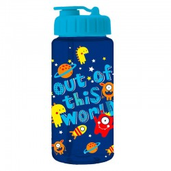 Trinkflasche Aliens Out of this world blau