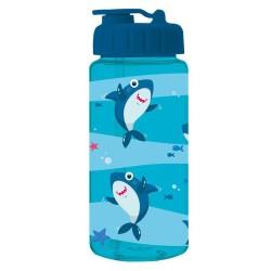 Trinkflasche Hai in blau