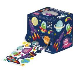 Sticker von der Rolle - Weltraum