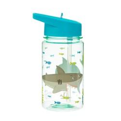 Trinkflasche Shelby Hai mit Strohhalm von Sass & Belle