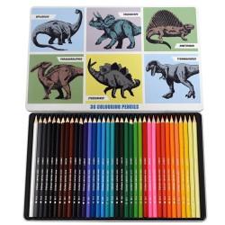 Farbstifte Dinosaurier Prehistoric Land in Metalletui