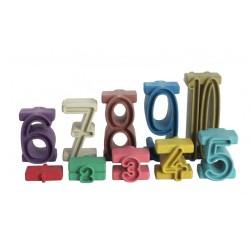 Zahlenbausteine & Stapelzahlen Montessori Farben