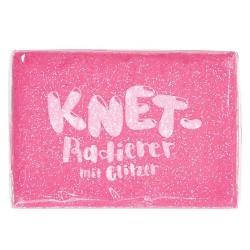 Knetgummi Radiergummi glitzer pink