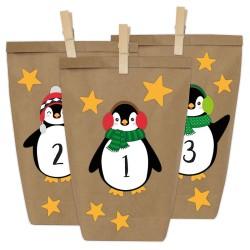 Adventskalender DIY Pinguine