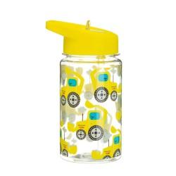Trinkflasche Bagger mit Strohhalm
