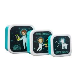 Znüni- und Lunchbox Set Space Explorer