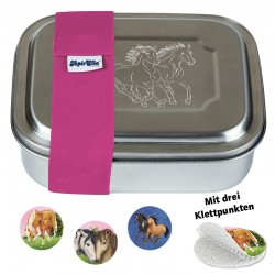 Lunchbox Edelstahl Pferde