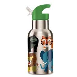 Thermo Trinkflasche Eco Kids Dschungeltiere aus Edelstahl