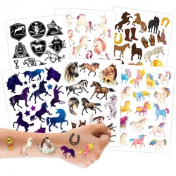 Kindertattoos Pferde & Einhörner