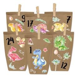 Adventskalender DIY Dinosaurier