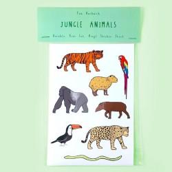 Sticker Dschungeltiere aus Vinyl